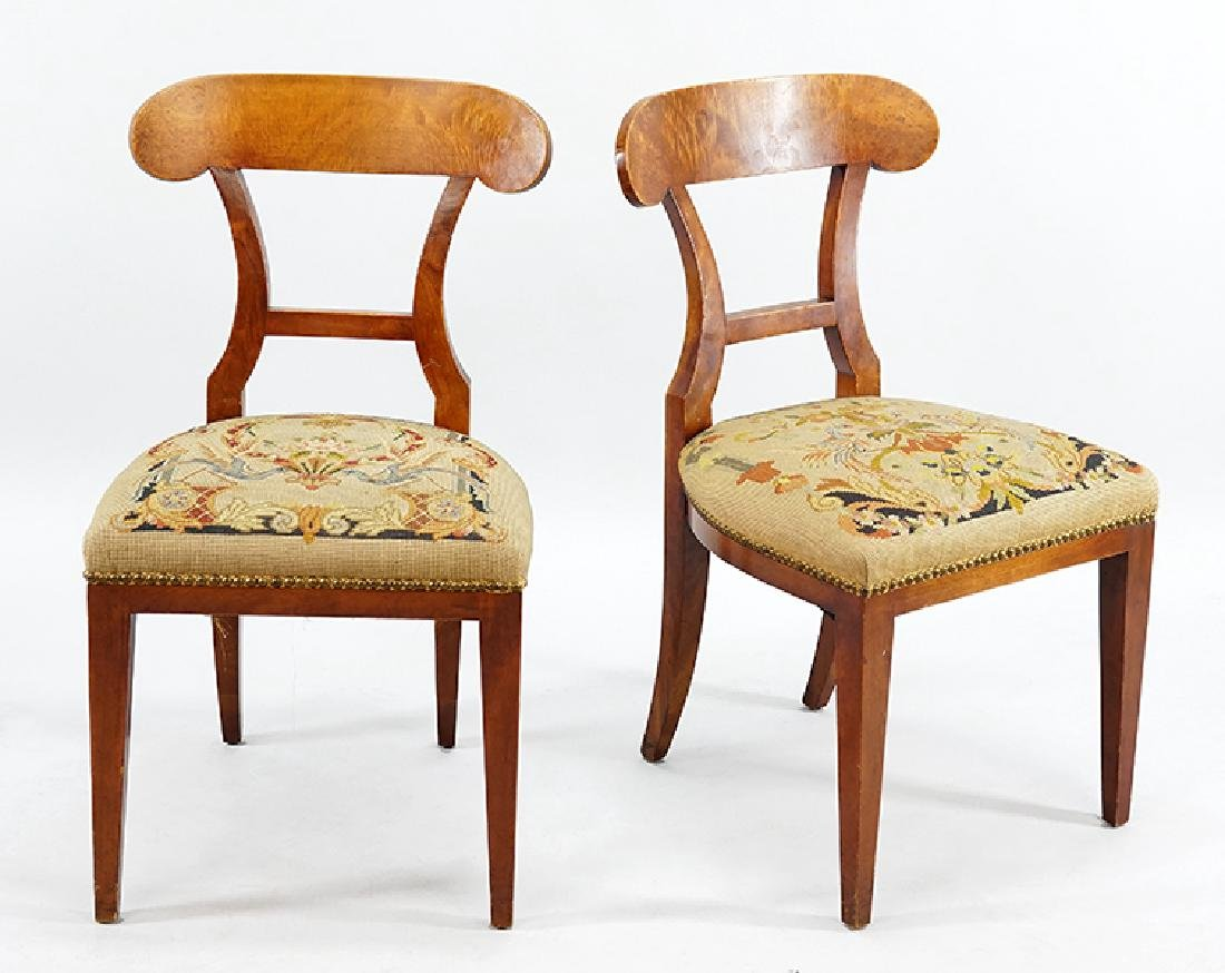 A Pair of Biedermeier Side Chairs.