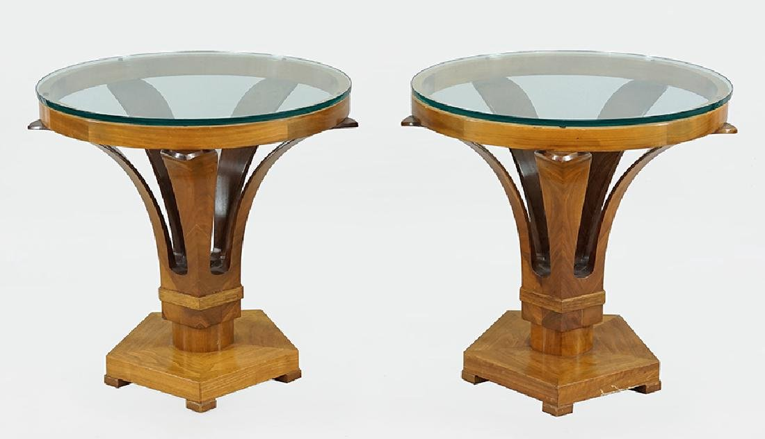 A Pair of Biedermeier Style Side Tables.