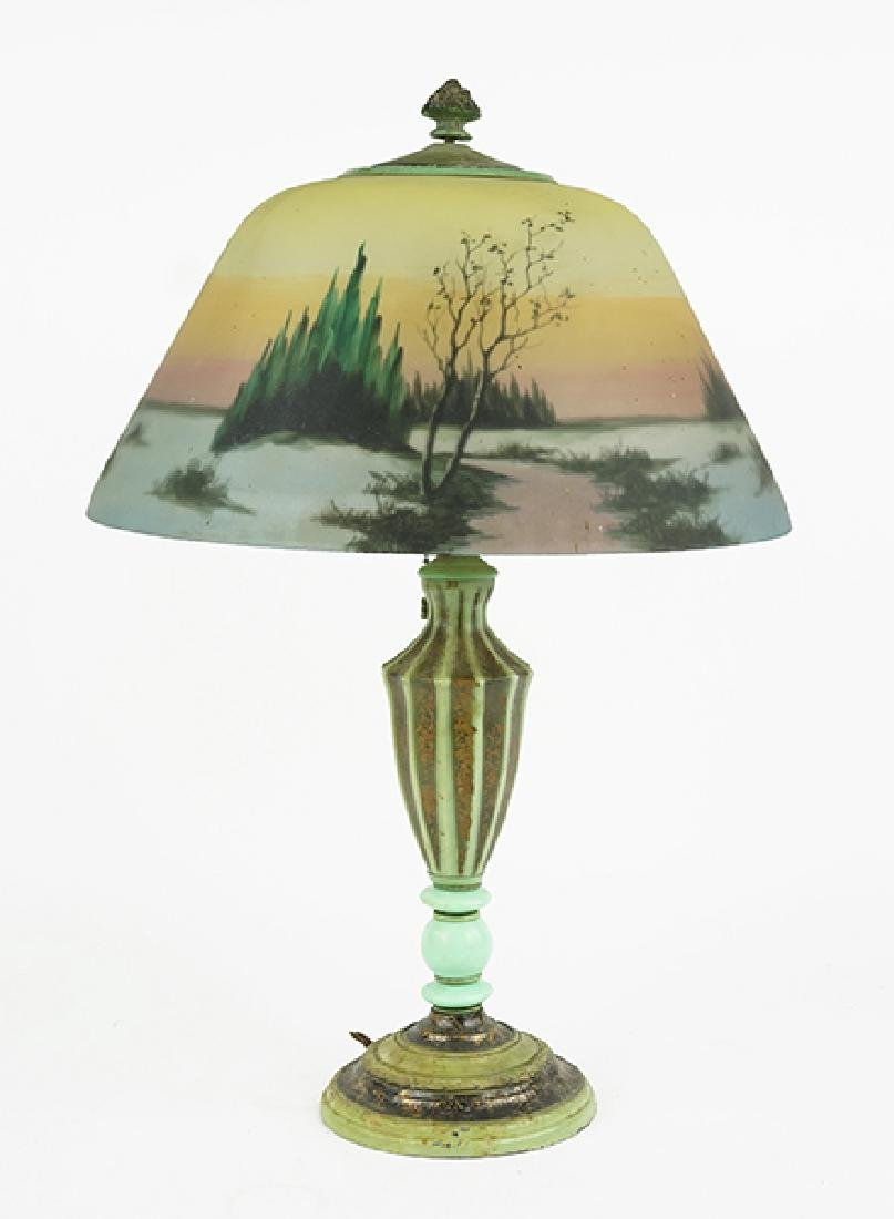 A Jefferson Reverse Painted Lamp.