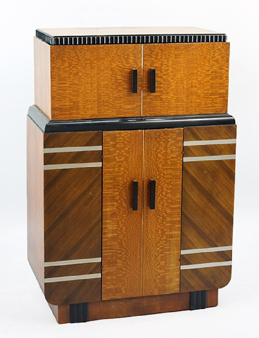 An Art Deco Radio Bar Cabinet. Radiobar by Philco.