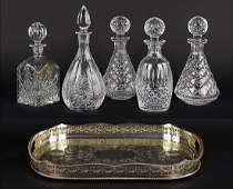 Three Waterford Crystal Decanters.