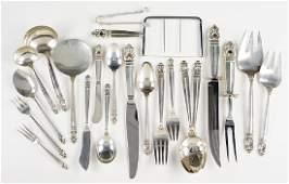 An International Sterling Silver Flatware Service