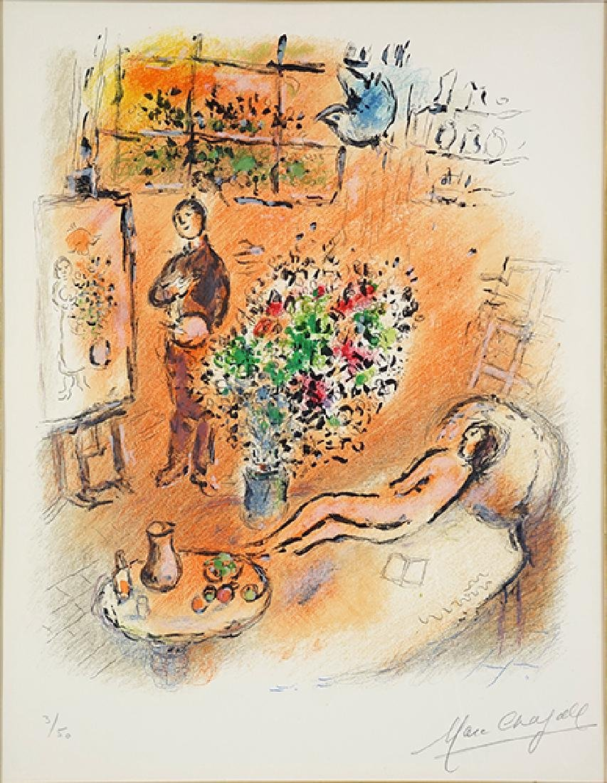 Marc Chagall (Russian/French, 1887-1985) L'Atelier