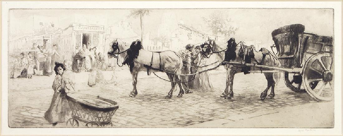 Edgar Chahine (Armenian-French, 1874-1947) Coin de rue
