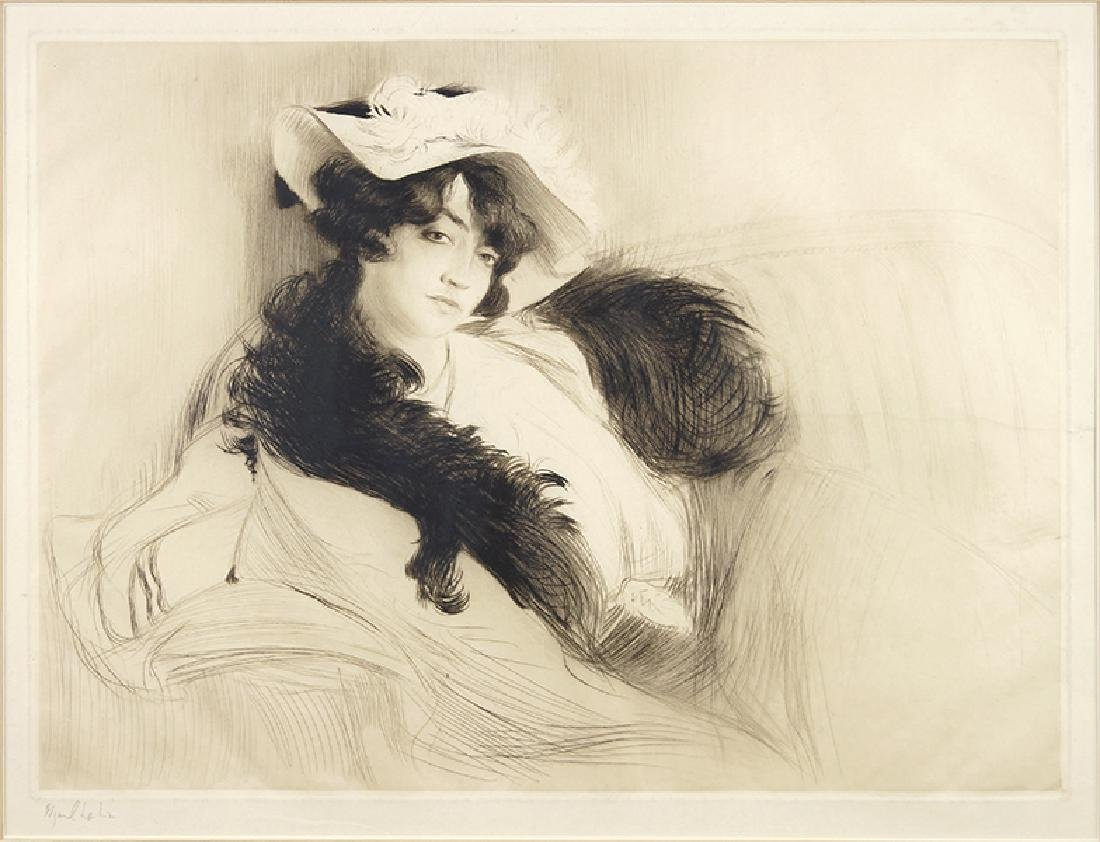 Edgar Chahine (Armenian-French, 1874-1947) Elvira.