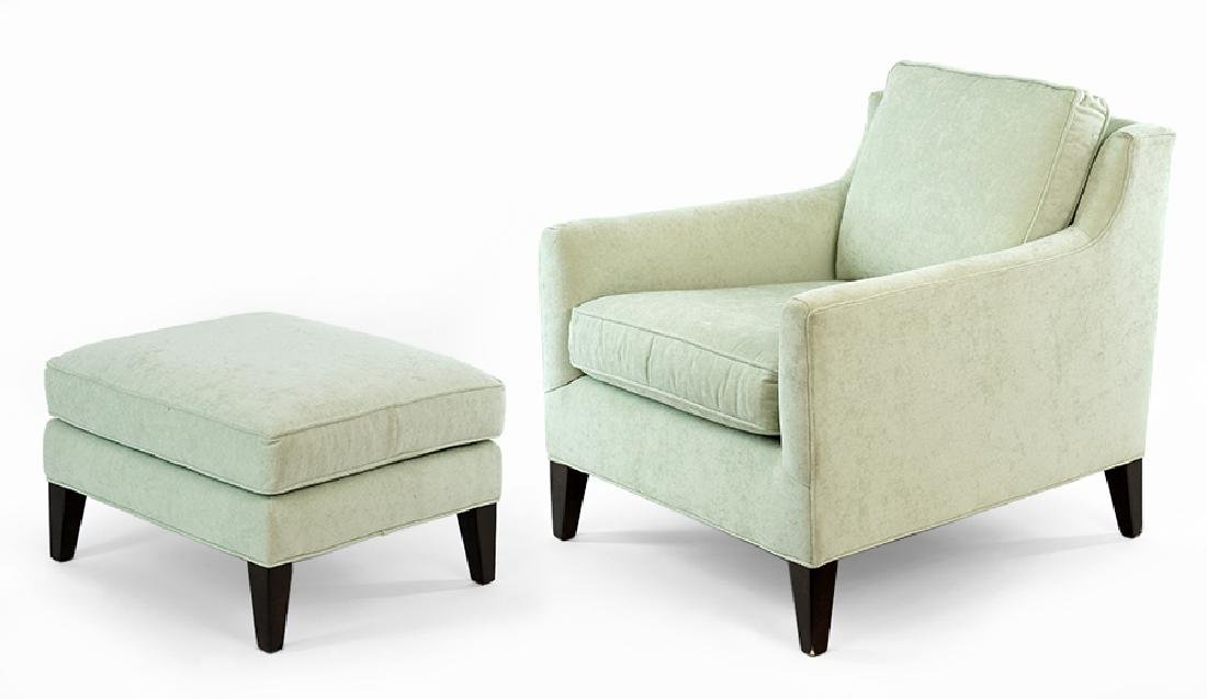 A Pair of Contemporary Upholstered Club Chairs.