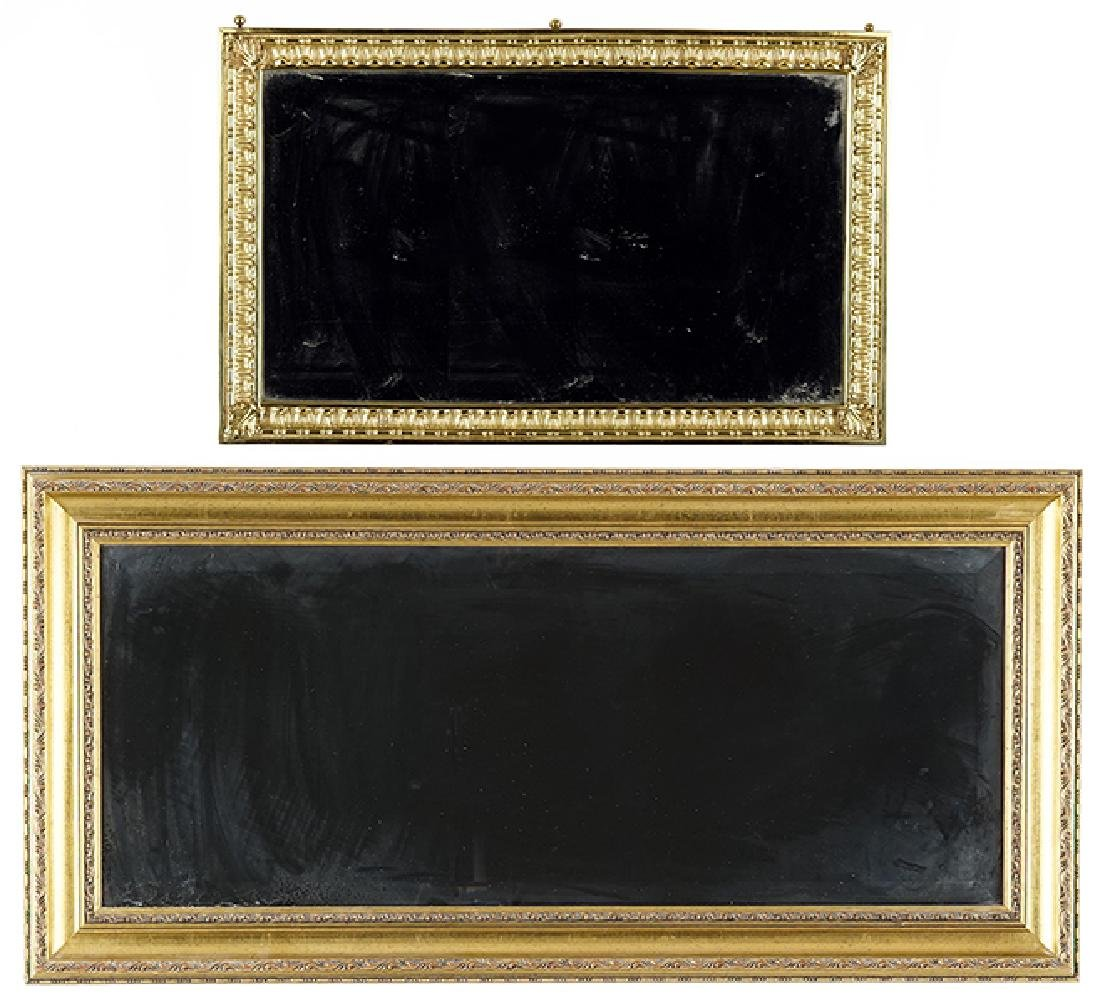Two Framed Wall Mirrors.