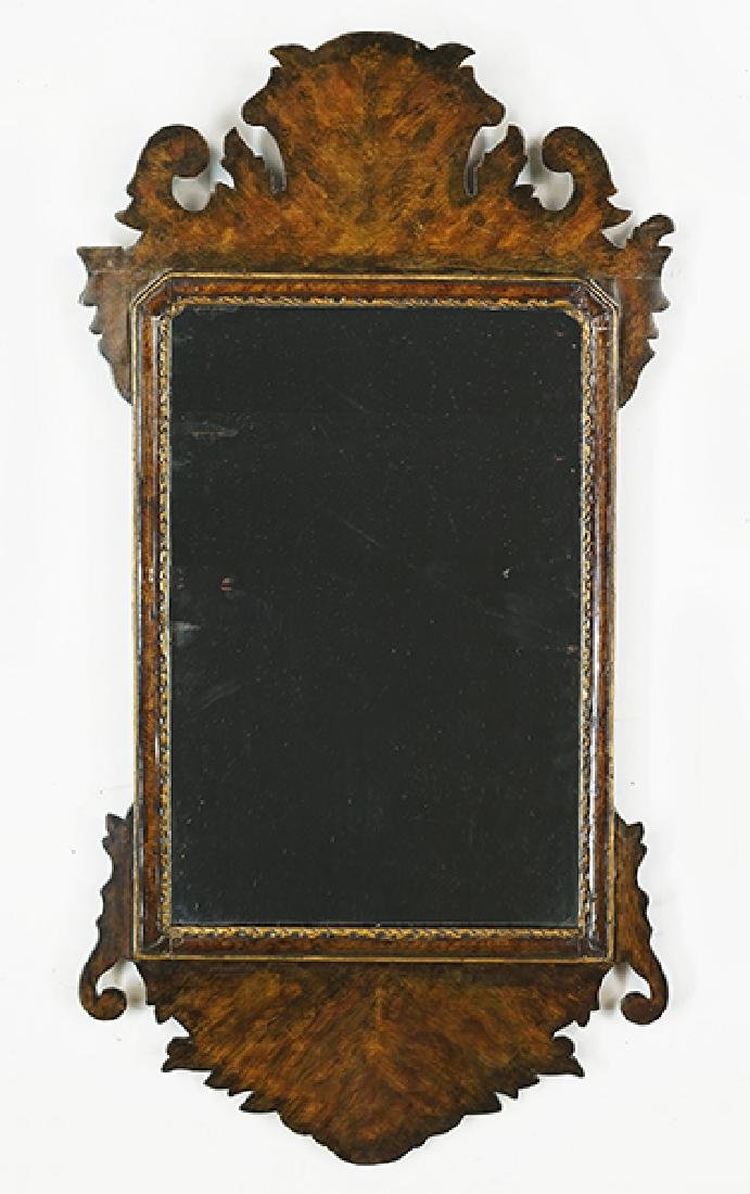 A Chippendale Mahogany Mirror.