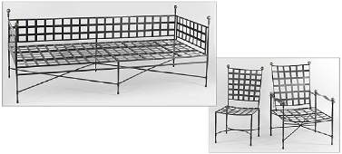 A Suite of Outdoor Metal Furniture.