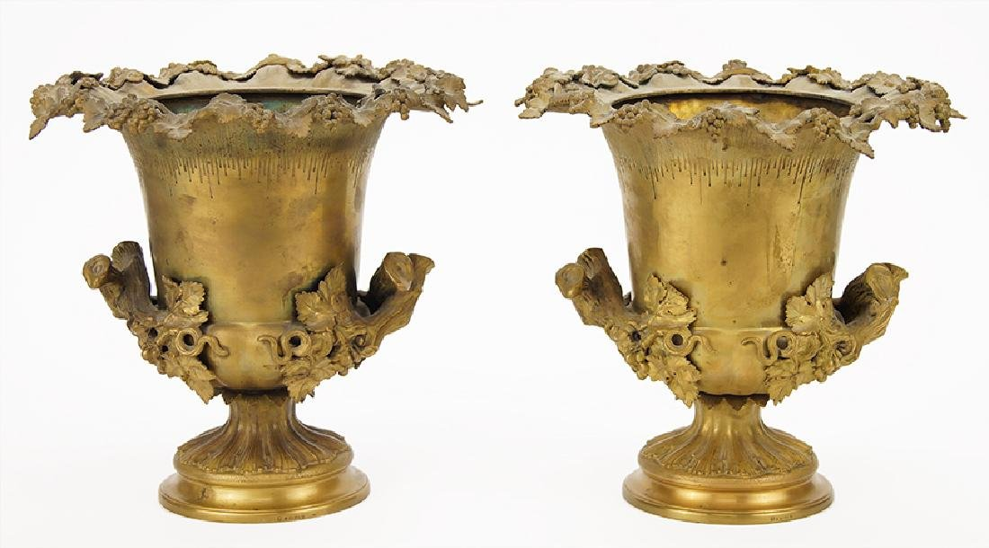 A Pair of Gilt Metal Champagne Buckets.