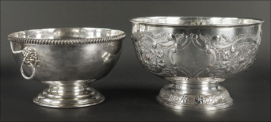 An English Silverplate Monteith Bowl.
