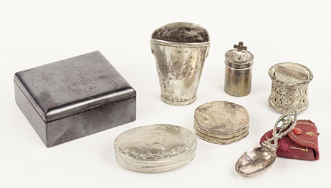 Four Silverplate Boxes.
