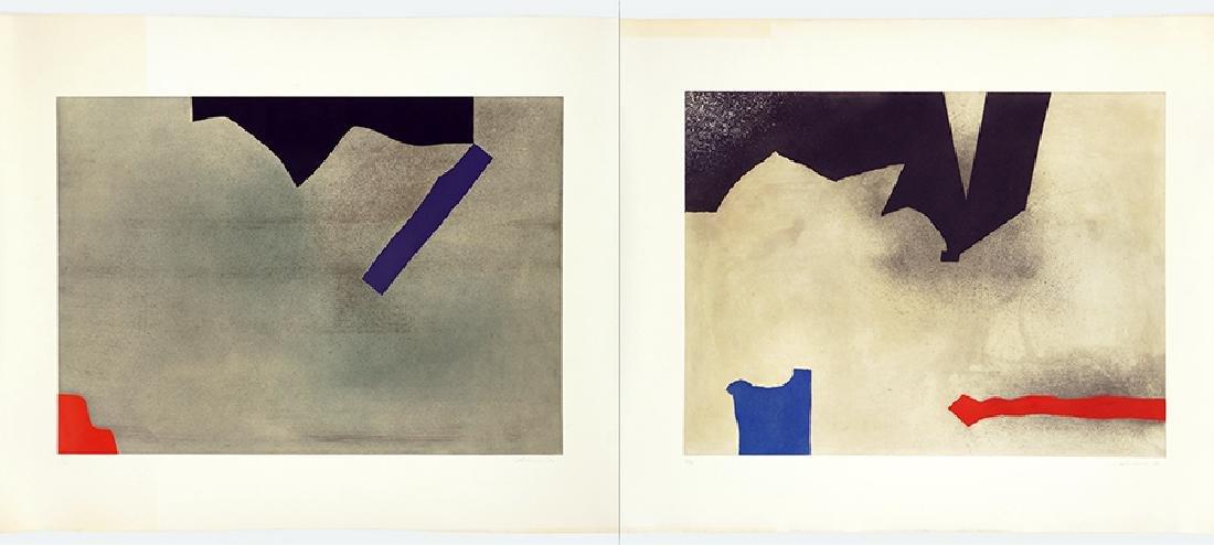 Giuseppe Santomaso (Italian, 1907-1990) Two Works.