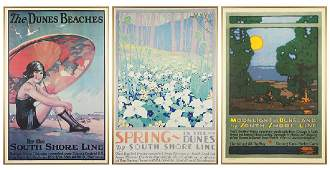 Three South Shore Lines Rail Posters.