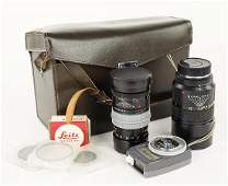 Two Leitz Leica Camera Lenses.