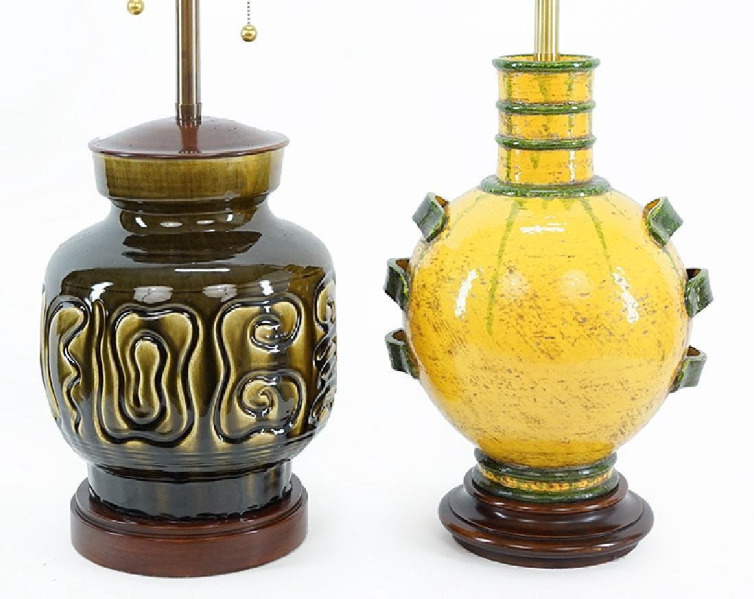 Two Marbro Glazed Ceramic Table Lamps.