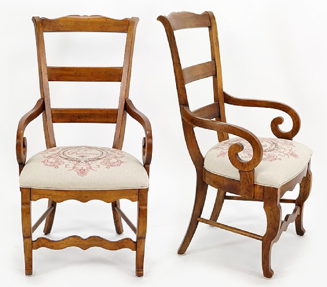 A Pair of Open Armchairs.