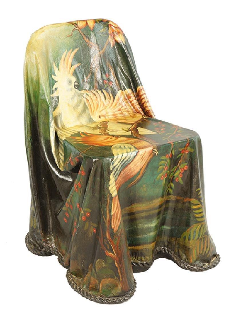 A Painted Fiber Glass Chair.