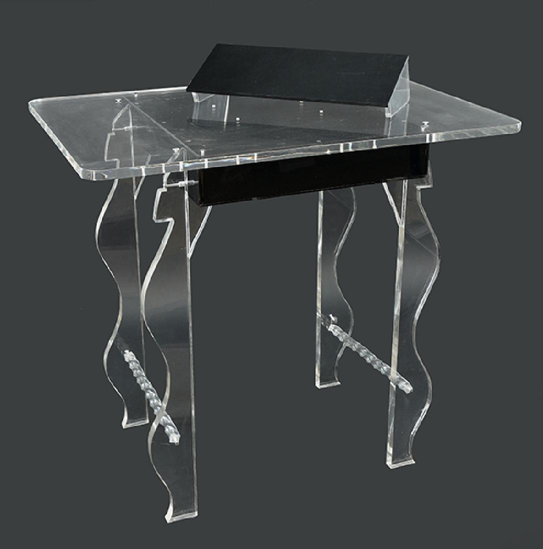 A Lucite Desk.