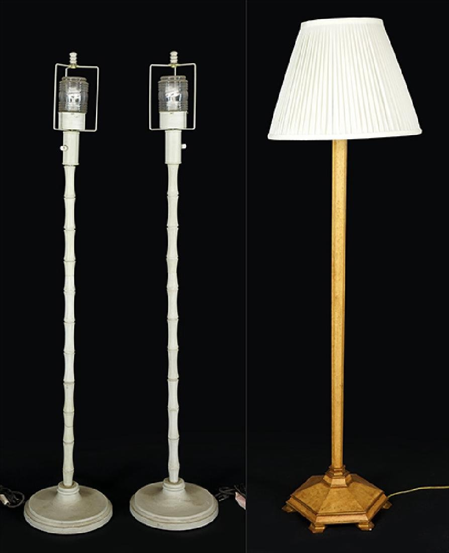 A Pair of Contemporary Floor Lamps.