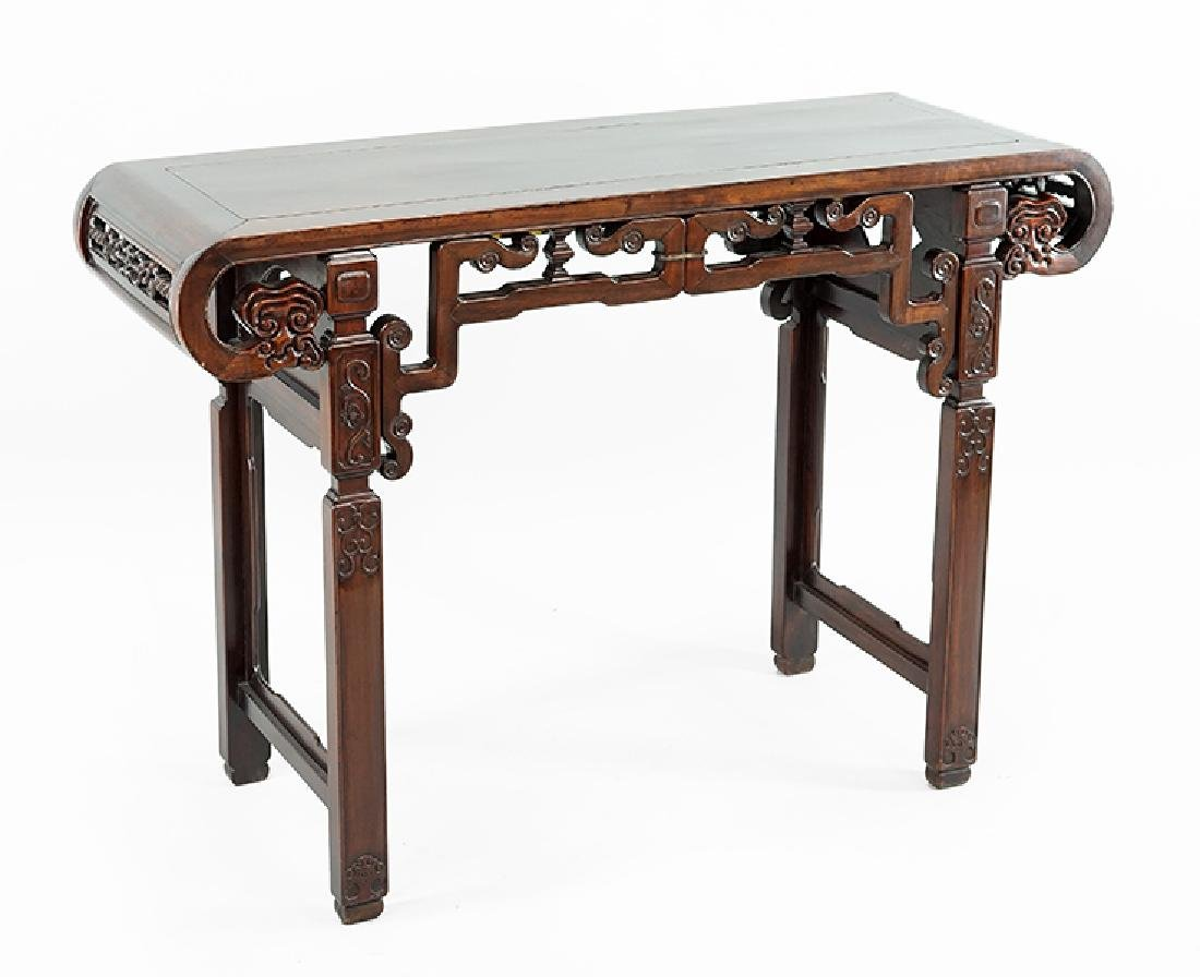 A Chinese Rosewood Console Table.