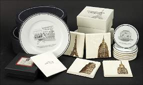 The New Yorker Cocktail Plates and Coasters.