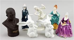 Three Royal Doulton Porcelain Figures of Ladies