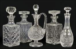 Two Waterford Crystal Decanters.