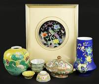 A Collection of Asian Ceramic Items
