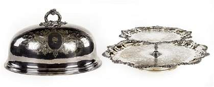 An English Silverplate Meat Dome.