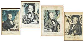 Nathaniel Currier (American, 1813-1888) Four