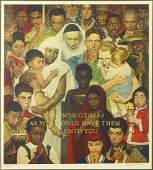 Norman Rockwell (American, 1894-1978) Do Unto Others.