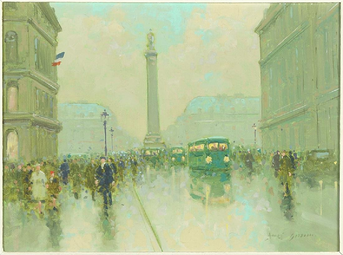 Andre Gisson (French, 1921-2003) Place Vendome.