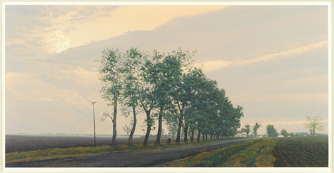 James Winn (American, B. 1949) Tree Lined Road.
