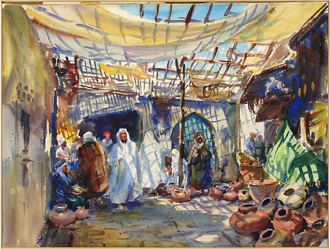 John Whorf (American, 1903-1959) Bazaar of the Potters