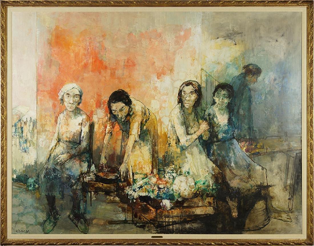 Jean Jansem (Armenian-French, 1920-2013) Marchande de
