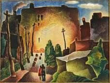 William S. Schwartz (American, 1896-1977) Side Street.