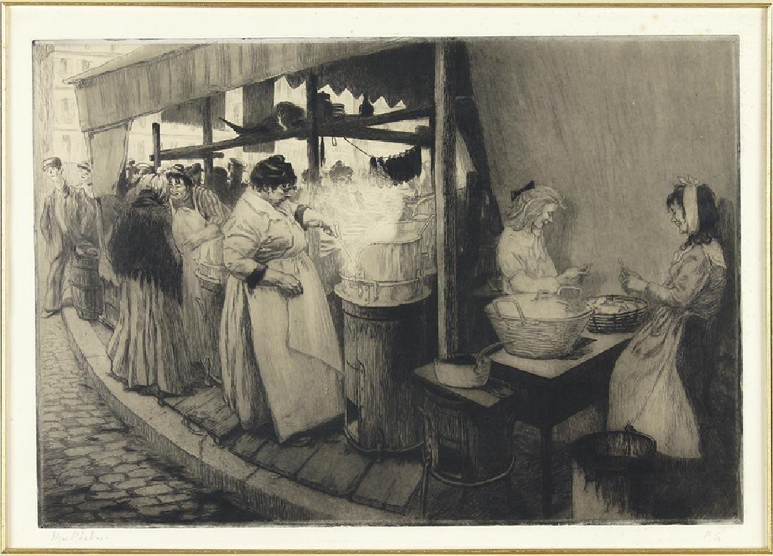 Edgar Chahine (Armenian-French, 1874-1947) Les Frites.