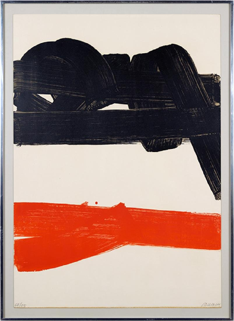 Pierre Soulages (French, B. 1919) Lithographie No 27.