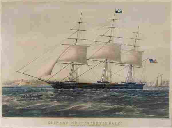 Nathaniel Currier (American, 1813-1888) Clipper Ship