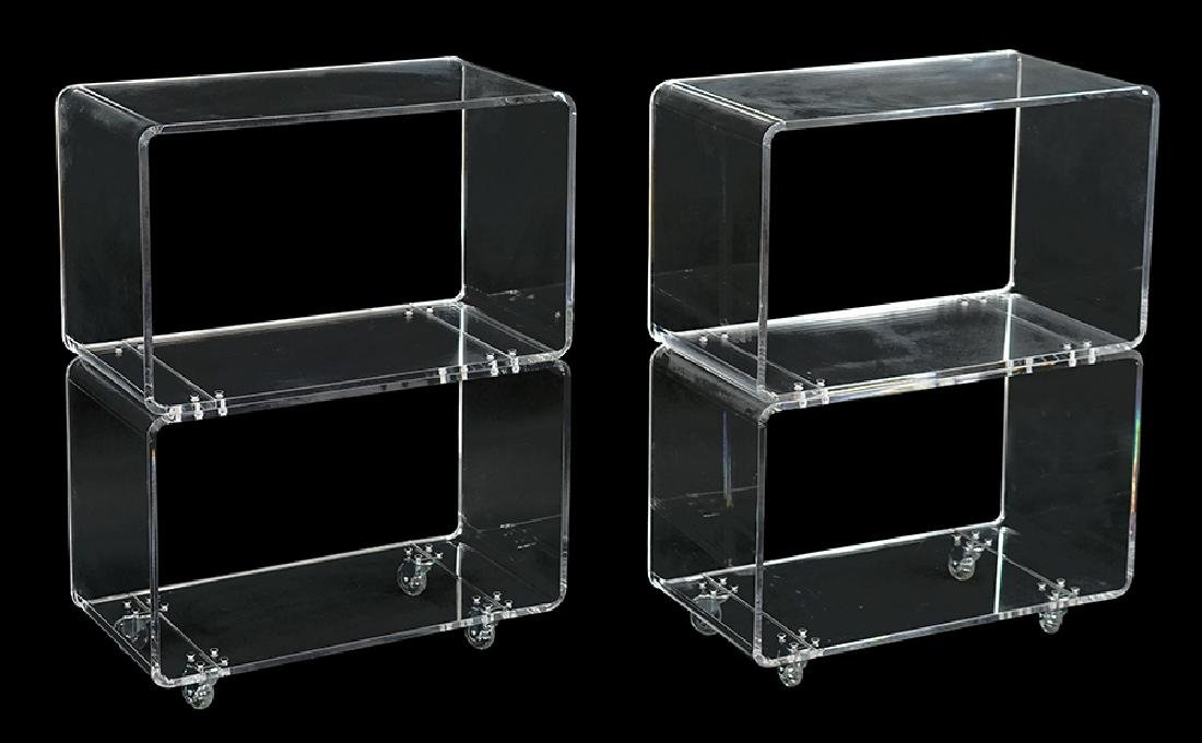A Pair of Lucite Tables.