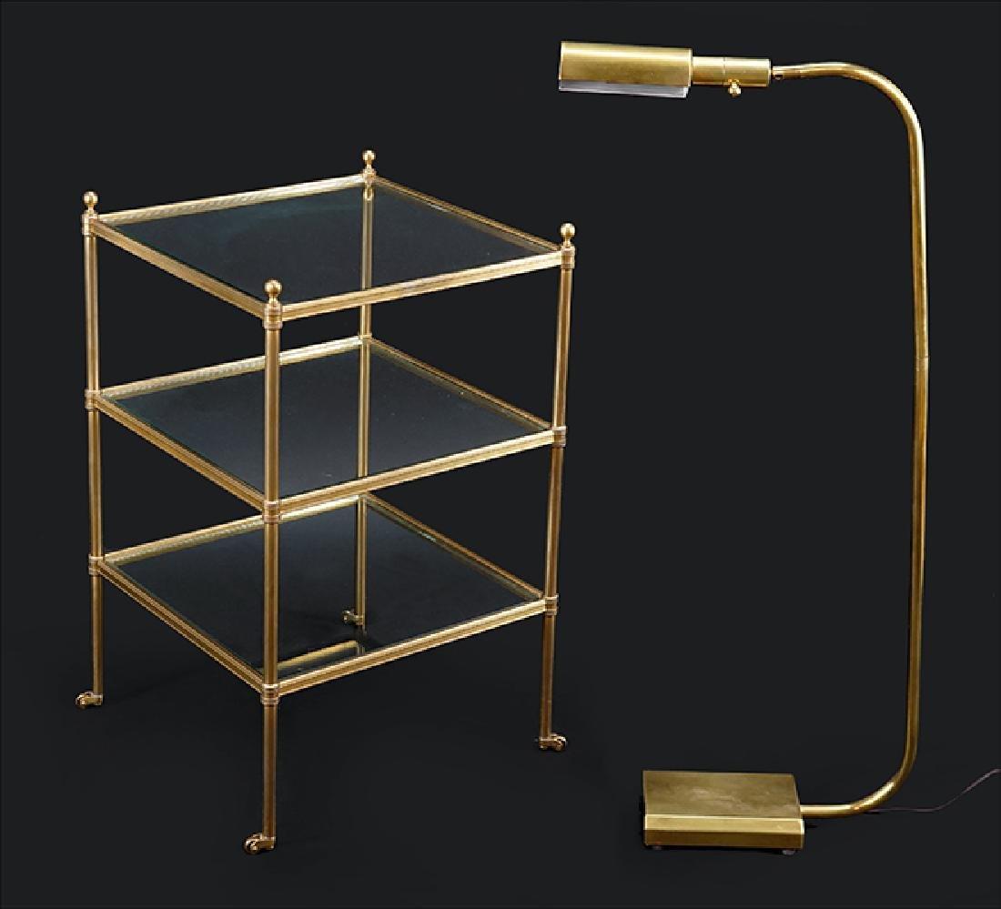 A Chapman Brass Reading Lamp.