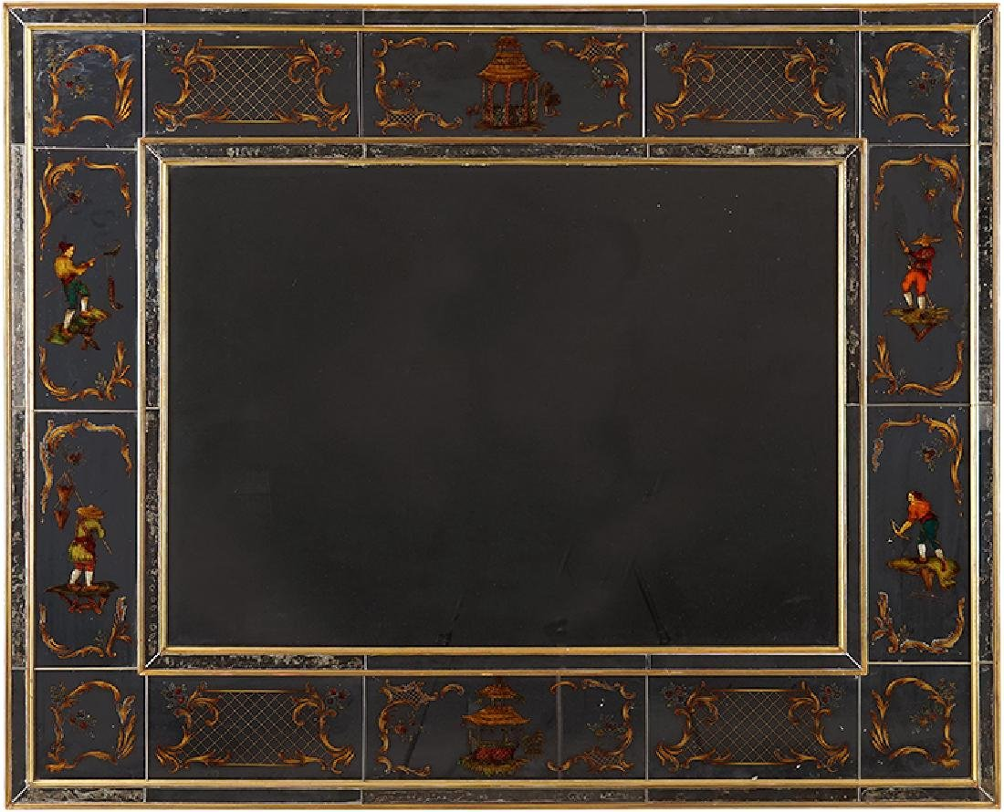 A Chinoiserie Style Mirror.