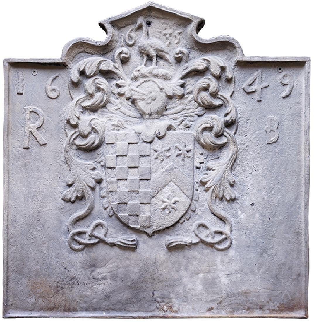 A Cast Iron Plaque.