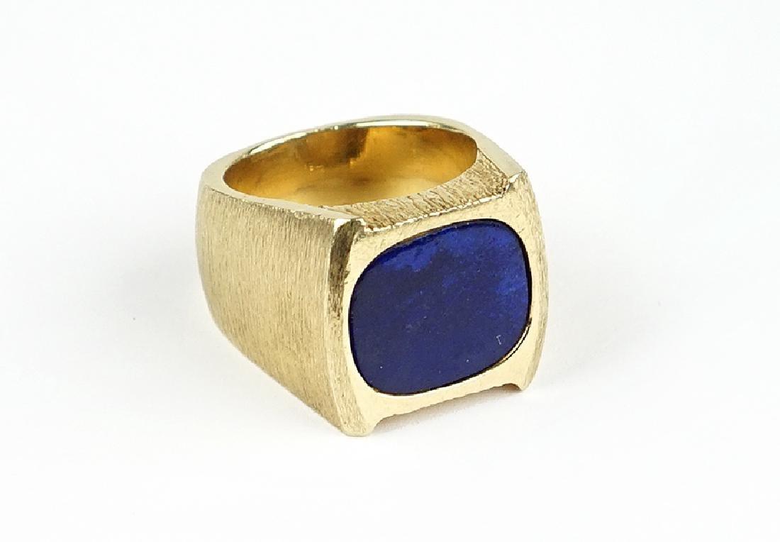 A Lapis Ring.