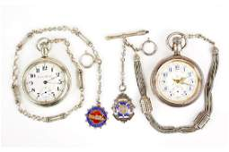 Two Waltham Dueber Pocket Watches.
