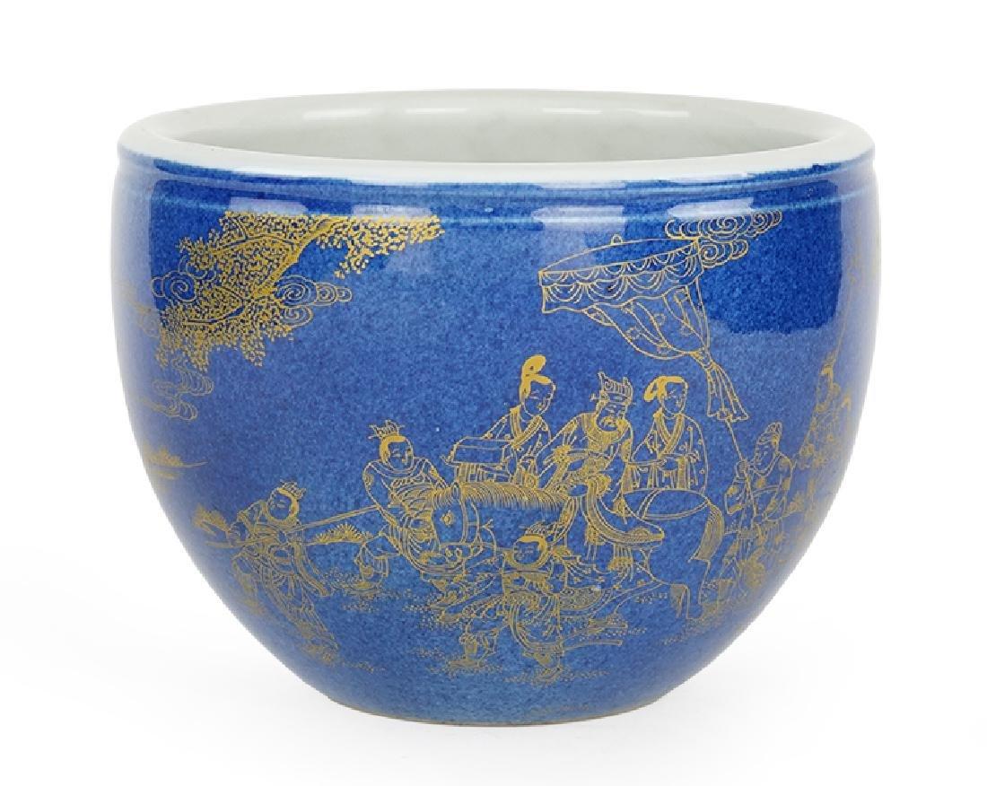A Chinese Cobalt Glazed Porcelain Bowl.