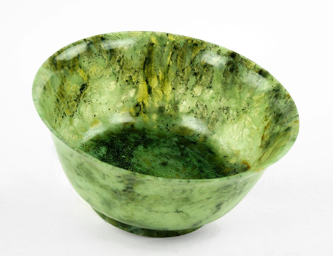 A Chinese Spinach Jade Bowl.