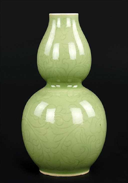 A Korean Celadon Glazed Double Gourd Vase