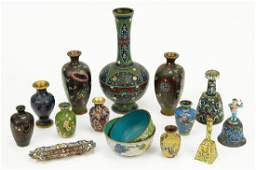 A Collection of Cloisonne Decorative Items